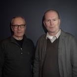 Ohjaaja Rax Rinnekangas (oik) keskusteli ohjaaja Pekka Milonoffin kanssa MATKA EDENIIN -elokuvan tematiikasta. Kuva: Lea Hult