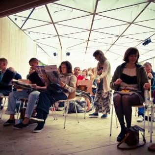 Work Hard, Play Hard WDC Paviljongissa 26.8. keräsi hyvin yleisöä. Kuva: Lauri Hassi