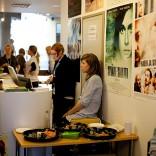 Festivaalin info Bio Rex:n näyttelytilassa. Kuva: Timo Pyykönen
