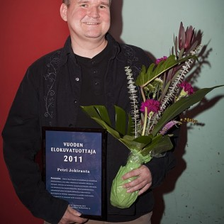 RARE EXPORTSIN tuottaja Petri Jokiranta sai Vuoden elokuvatuottaja 2011 palkinnon. Kuva: Lea Hult