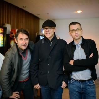 Dual-elokuvan ohjaaja Nejc Gazvoda (keskellä) sekä tuottajat Andrej Stritof ja Ales Pavlin. Kuva: Ilkka Vuorinen