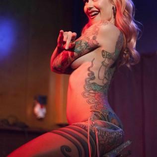 Tana The Tattoed Lady. Kuva: Mari Herrala
