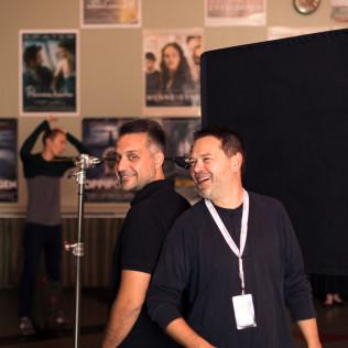 Circles-elokuvan ohjaaja Srdan Golubovic ja käsikirjoittaja Srdjan Koljevic Helsingissä 19.9. Kuva: Johannes Romppanen